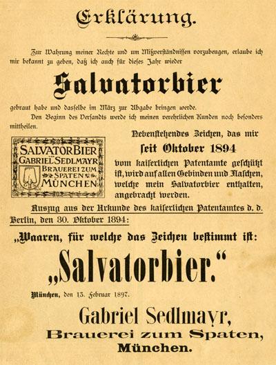 Auf dem Salvatorkeller in München, 1877